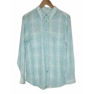 Equipment Femme Silk Patterned Blouse Size L